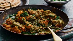 RESTAURANT STYLE CHICKEN MASALA WITH SPINACH AND MUSHROOMS