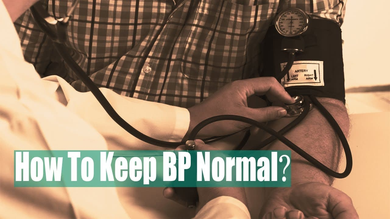 Natural Ways To Keep Your Blood Pressure Normal